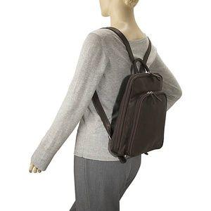 Osgoode Marley Cashmere Leather Backpack Brown Lrg